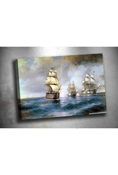 Sibiro Gemiler Yağlı Boya Reprodüksiyon Kanvas Tablo op47