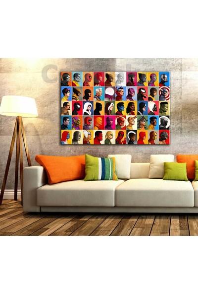 Sibiro Marvel Karakterleri Kanvas Tablo ozl32 35 x 50 cm