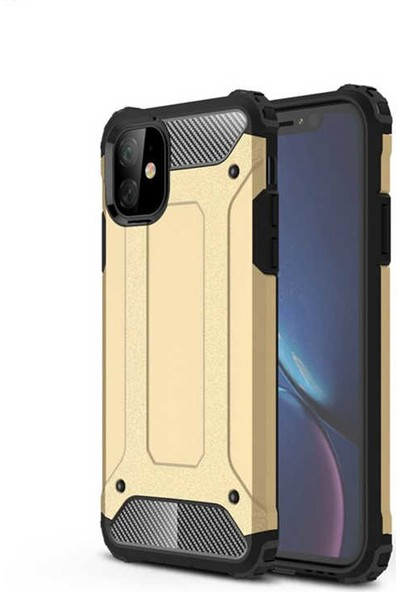 Efsunkar Apple iPhone 11 Crast Tank Kılıf Gold