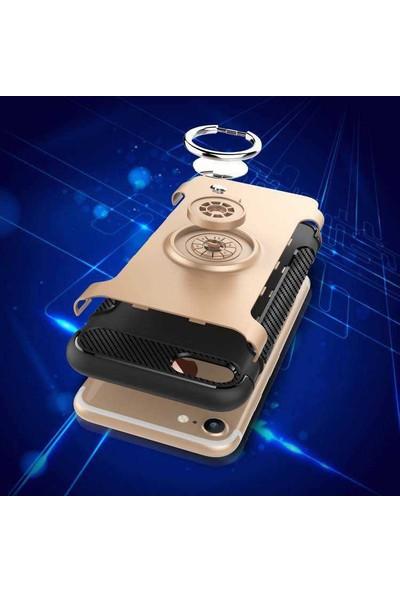 Efsunkar Apple iPhone 6S Plus Kılıf Yüzüklü Venüs Kılıf Lacivert