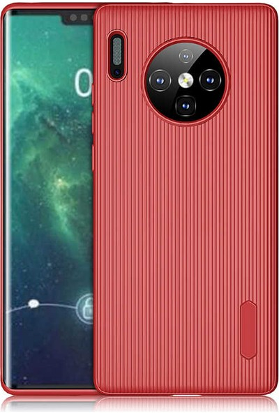 89 Go Huawei Mate 30 Pro Kılıf Tırtıklı Kılıf Kırmızı