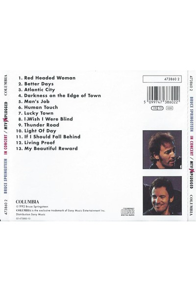 Bruce Springsteen – In Concert / Mtv Unplugged CD