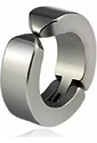 Avantajewellery Sıkıştırmalı Yaylı Erkek Kadın 316L Çelik Küpe 3 mm (Deliksiz)