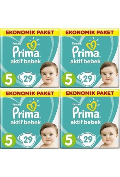Prima Aktif Bebek Ekonomik Paket 5 Numara 29*4=116 Adet Bez