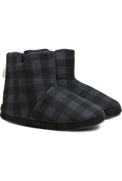 RedPlay Kareli Erkek Panduf Ev Ayakkabısı Ev Botu