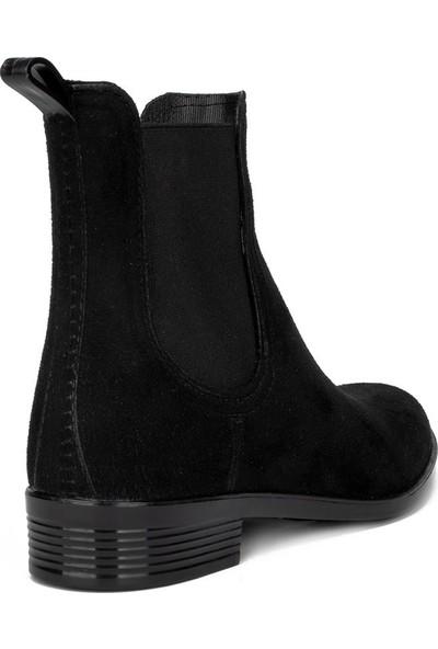 Modafrato Siyah Kadın Yağmur Çizmesi Su Geçirmez Yağmur Botu