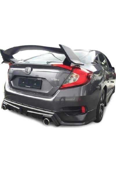 Bg Plast Honda Civic Fc5 Mugen Arka Ek (Plastik)