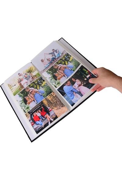Nobby Star 10 x 15 Ebatında 300'lük Pencereli Deri Fotoğraf Albümü Kırmızı