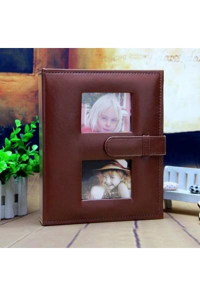 Nobby Star 10 x 15 Ebatında 200'lük Pencereli Deri Fotoğraf Albümü Siyah