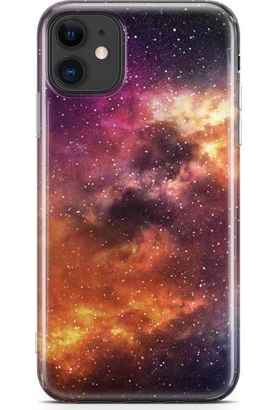 Lopard Apple iPhone 11 Kılıf Silikon Arka Kapak Koruyucu Galaksi Desenli