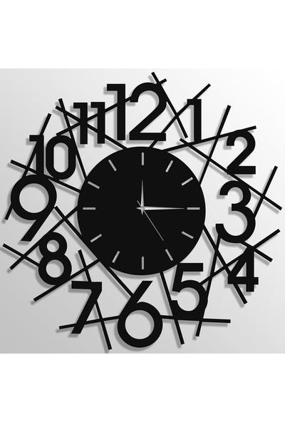 Trendbox Ahşap Duvar Saati Çizgiler