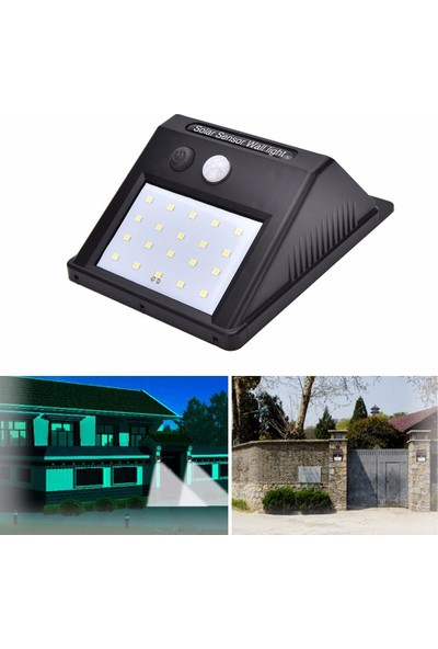 Twinix Solar Aydınlatma 20 Ledli Hareket Sensörlü Su Geçirmez