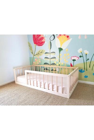 Montessori Yatak Ahşap Çocuk Yatak