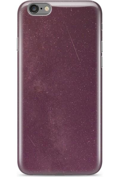 Lopard Apple iPhone 6 6S Kılıf Silikon Arka Kapak Koruyucu Kırmızı Geceler Desenli