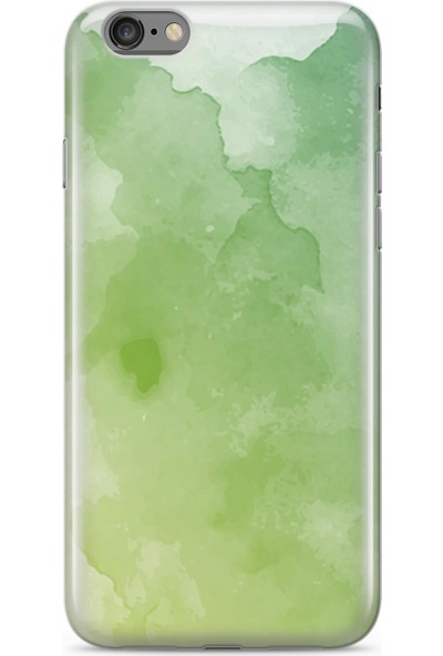 Lopard Apple iPhone 6 6S Kılıf Silikon Arka Kapak Koruyucu Yeşil Hayaller Desenli