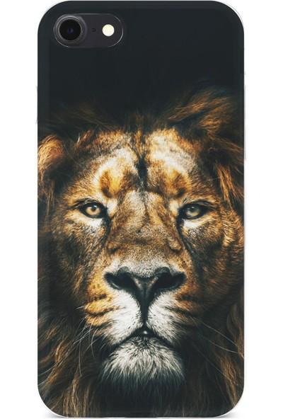 Lopard Apple iPhone 7 Kılıf Silikon Arka Kapak Koruyucu Best Lion Desenli