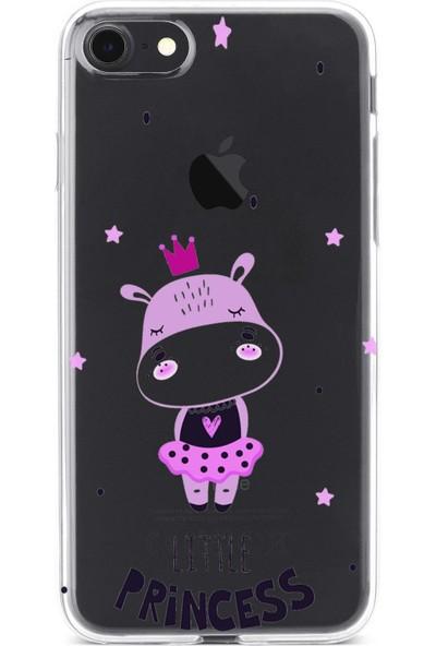 Lopard Apple iPhone 8 Kılıf Silikon Arka Kapak Koruyucu Tek Küçük Prenses Desenli