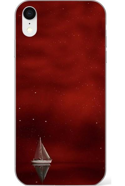 Lopard Apple iPhone Xr Kılıf Silikon Arka Kapak Koruyucu Kızıl Gemi Desenli