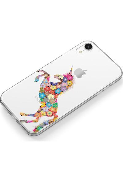 Lopard Apple iPhone Xr Kılıf Silikon Arka Kapak Koruyucu Unicorn Desenli