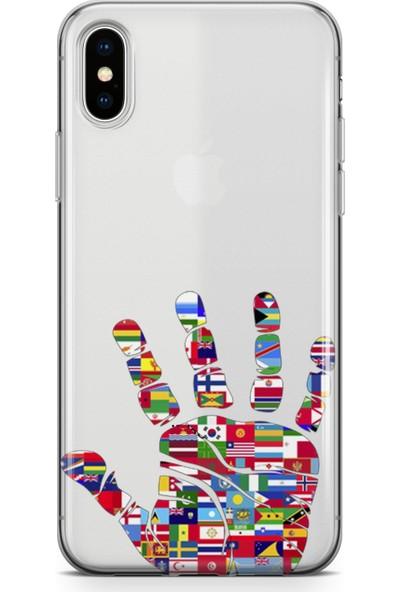 Lopard Apple iPhone Xs Max Kılıf Silikon Arka Kapak Koruyucu Dünya Vatandaşı Desenli