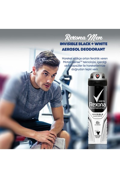 Rexona Erkek Deodorant Sprey Invisible Black&White 150 ml