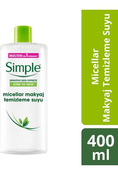 Simple Kind To Skin Hassas Ciltlere Uygun Sert Kimyasal İçermeyen Micellar Makyaj Temizleme Suyu 400 ML