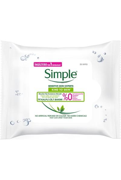 Simple Kind To Skin Hassas Ciltlere Uygun Micellar Yüz Temizleme Mendili 25 Adet