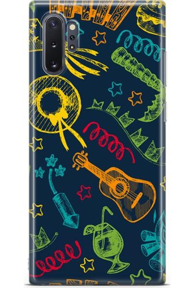 Lopard Samsung Galaxy Note 10 Plus (Pro) Kılıf Silikon Arka Kapak Koruyucu Eğlence Desenli