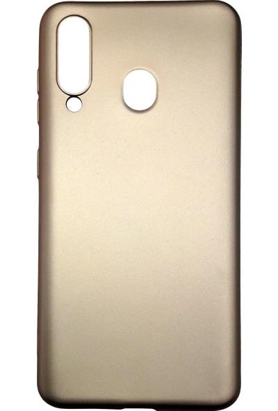 Samsung Galaxy M40 (SM-M405) Silikon Cep Telefonu Kılıfı (Gold)
