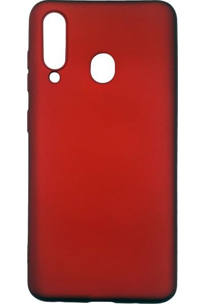 Samsung Galaxy M40 (SM-M405) Silikon Cep Telefonu Kılıfı (Kırmızı)