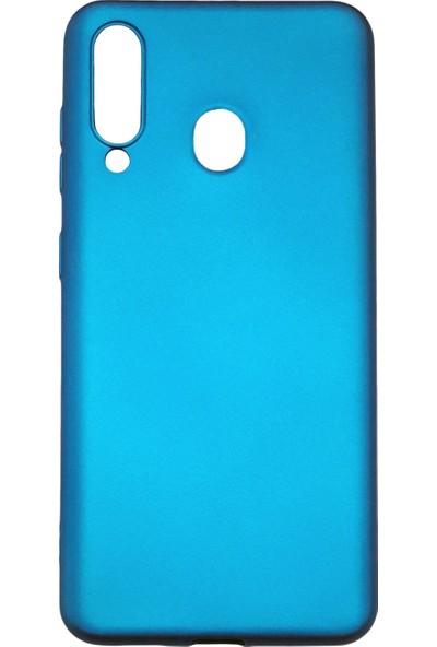 Samsung Galaxy M40 (SM-M405) Silikon Cep Telefonu Kılıfı (Mavi)