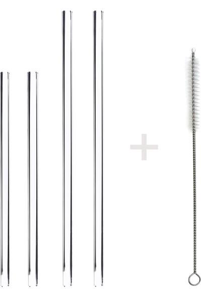 1200 Derece Dayanıklı Cam Pipet 2 x 15 cm Düz + 2 x 20 cm Düz