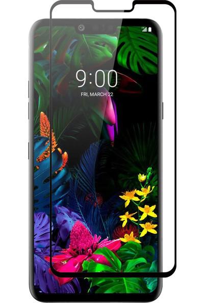 Microcase LG G8 ThinQ Tam Kaplayan Çerçeveli Tempered Ekran Koruyucu - Siyah