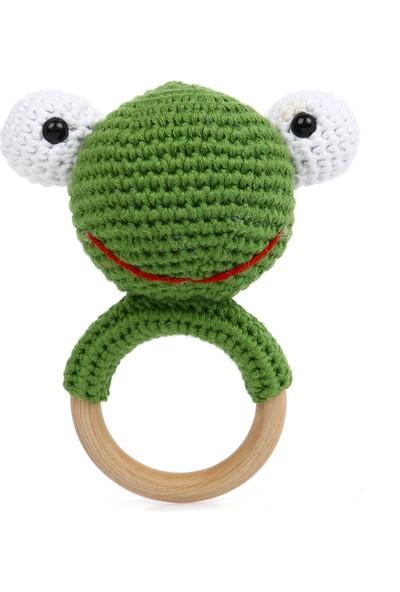 Göznuru Ami̇gurumi̇ Kurbağa Di̇ş Kaşıyıcı Bebek Çıngırağı