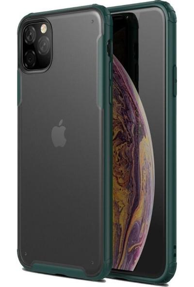 Teleplus iPhone 11 Pro Kılıf Vonk Hibrit Silikon Yeşil + Nano Ekran Koruyucu