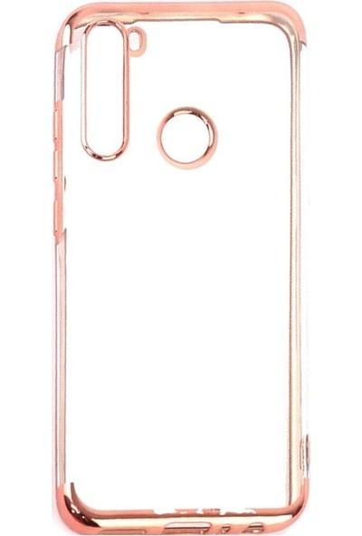 Teleplus Xiaomi Redmi Note 8 Kılıf Lüks Lazer Silikon Rose Gold