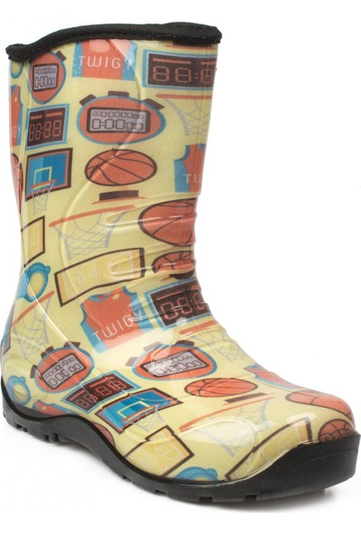 Twigy Nn0607 Yağmur Sarı Çocuk Çizme