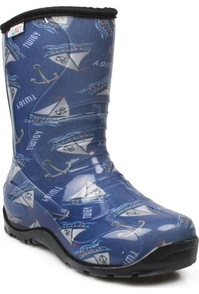 Twigy Nn0607 Yağmur Lacivert Çocuk Çizme