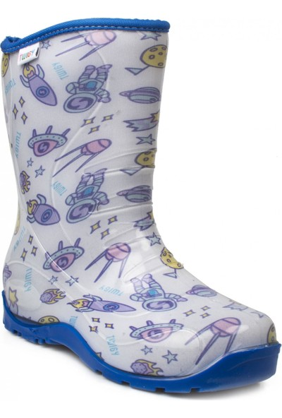 Twigy Nn0607 Yağmur Mavi Çocuk Çizme