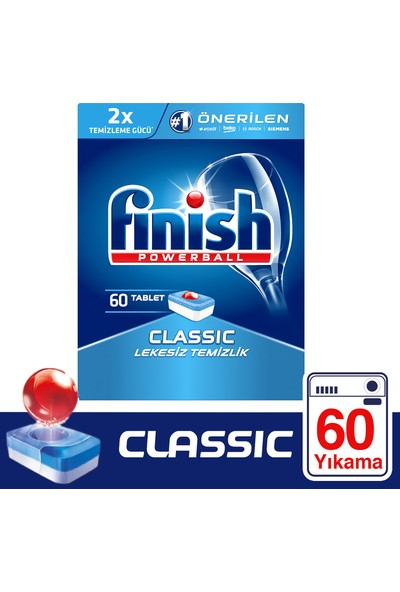 Finish Classic Bulaşık Makinesi Deterjanı 60 Tablet