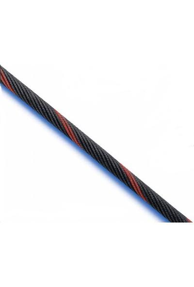 Peronline 6 mm 19 x 7 Nuflex Vinç Halatı Siyah 40 m