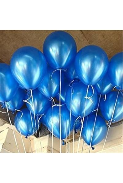 Balon Metalik Sedefli Kaliteli Uçan Balon Lacivert 25 Adet