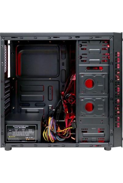 Turbox Gaming Turbo X8 4x Fan 32 Red 300W Oyuncu Bilgisayar Kasası