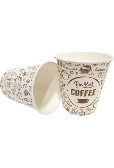 Cuppa Cup 7 Oz Karton Bardak 50 x 60 = 3000 Adet Tahta Karıştırıcı + Çöp Poşeti