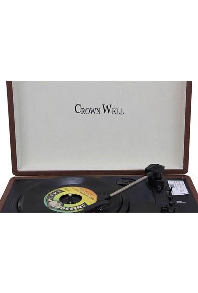 Crownwell Yandan Hoparlörlü Kahverengi Çantalı Pikap