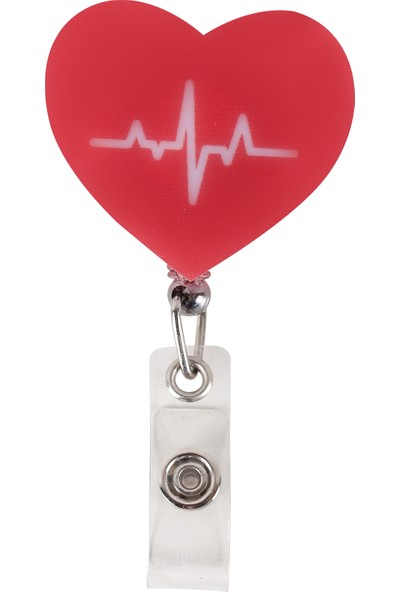 Nur Ortopedi Kalp Ritim Temalı Yoyo Yaka Kartlığı