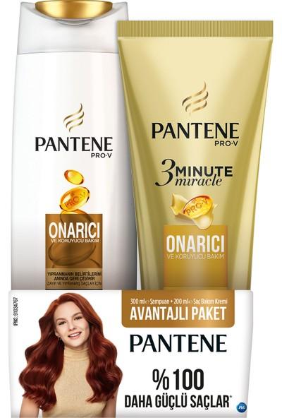 Pantene Onarıcı Koruyucu Bakım 360 Ml Şampuan + 3 Minute Miracle Saç Bakım Kremi 200 Ml Onarıcı Ve Koruyucu Bakım