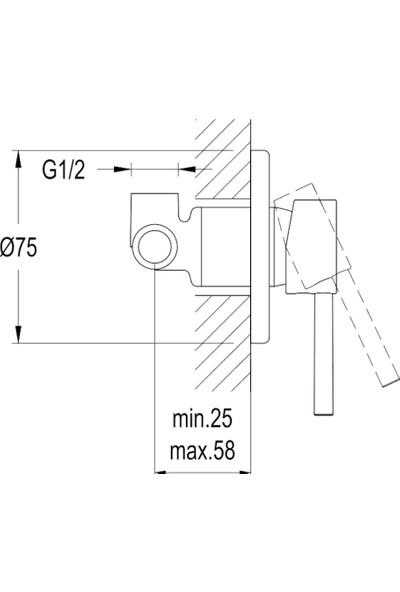 Kale Domino Ankastre Taharet Bataryası Sıcak Soğuk Su Bağlantılı