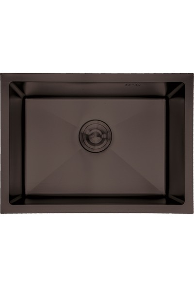 Crauf Ankastre Paslanmaz Çelik Siyah Evye 540 x 440 x 210 mm