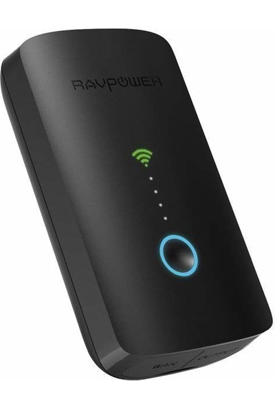 Ravpower Filehub Plus, Wireless Travel Router N300, Wireless Sd Card Reader, HDD Reader, Connect USB Hard Drive To Phone, Tablet And Laptop, Dlna Nas Sharing Media Streamer (6700MAH, Black)
